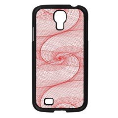 Red Pattern Abstract Background Samsung Galaxy S4 I9500/ I9505 Case (black)