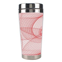 Red Pattern Abstract Background Stainless Steel Travel Tumblers