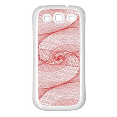 Red Pattern Abstract Background Samsung Galaxy S3 Back Case (white)