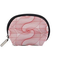 Red Pattern Abstract Background Accessory Pouches (small)