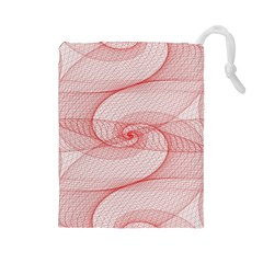 Red Pattern Abstract Background Drawstring Pouches (large)