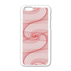 Red Pattern Abstract Background Apple Iphone 6/6s White Enamel Case