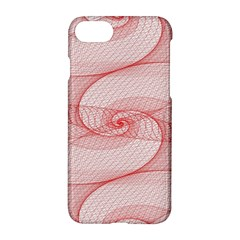 Red Pattern Abstract Background Apple Iphone 8 Hardshell Case