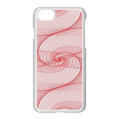 Red Pattern Abstract Background Apple Iphone 8 Seamless Case (white)