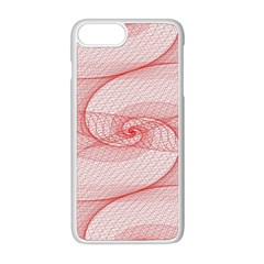 Red Pattern Abstract Background Apple Iphone 8 Plus Seamless Case (white)