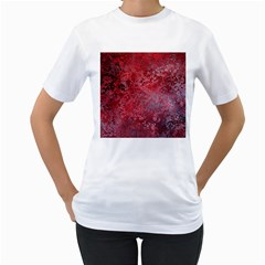 Background Texture Structure Women s T Shirt (white) (two Sided)