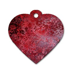 Background Texture Structure Dog Tag Heart (two Sides)
