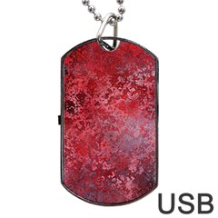 Background Texture Structure Dog Tag Usb Flash (one Side)