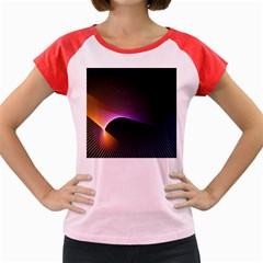 Star Graphic Rays Movement Pattern Women s Cap Sleeve T Shirt