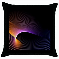 Star Graphic Rays Movement Pattern Throw Pillow Case (black)