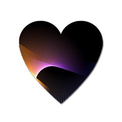 Star Graphic Rays Movement Pattern Heart Magnet