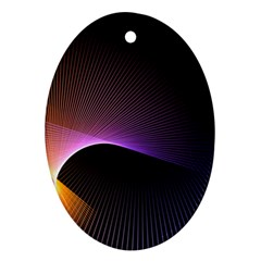 Star Graphic Rays Movement Pattern Oval Ornament (two Sides)