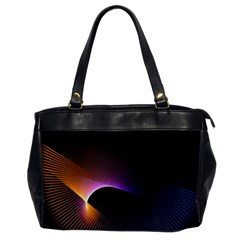 Star Graphic Rays Movement Pattern Office Handbags