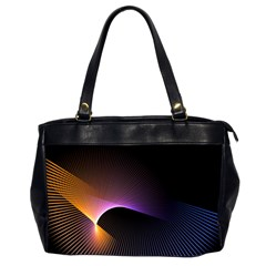 Star Graphic Rays Movement Pattern Office Handbags (2 Sides)