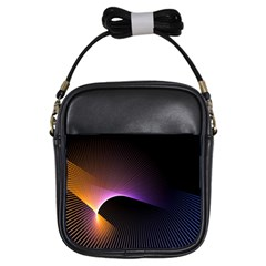 Star Graphic Rays Movement Pattern Girls Sling Bags