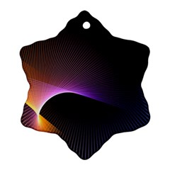 Star Graphic Rays Movement Pattern Ornament (snowflake)