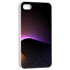Star Graphic Rays Movement Pattern Apple Iphone 4/4s Seamless Case (white)