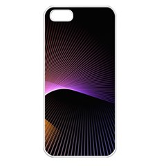 Star Graphic Rays Movement Pattern Apple Iphone 5 Seamless Case (white)