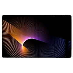 Star Graphic Rays Movement Pattern Apple Ipad 2 Flip Case