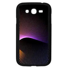 Star Graphic Rays Movement Pattern Samsung Galaxy Grand Duos I9082 Case (black)
