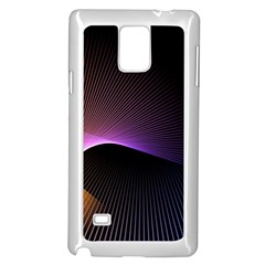 Star Graphic Rays Movement Pattern Samsung Galaxy Note 4 Case (white)
