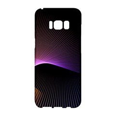 Star Graphic Rays Movement Pattern Samsung Galaxy S8 Hardshell Case