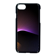Star Graphic Rays Movement Pattern Apple Iphone 8 Seamless Case (black)