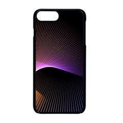 Star Graphic Rays Movement Pattern Apple Iphone 8 Plus Seamless Case (black)