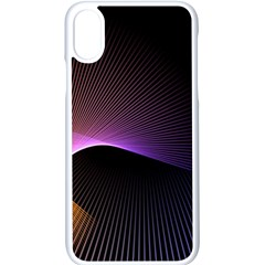 Star Graphic Rays Movement Pattern Apple Iphone X Seamless Case (white)