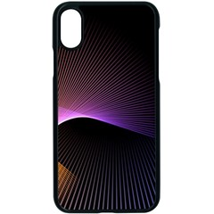 Star Graphic Rays Movement Pattern Apple Iphone X Seamless Case (black)