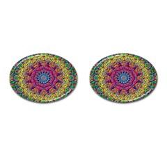 Background Fractals Surreal Design Cufflinks (oval)