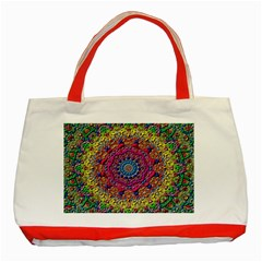 Background Fractals Surreal Design Classic Tote Bag (red)