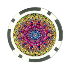 Background Fractals Surreal Design Poker Chip Card Guard