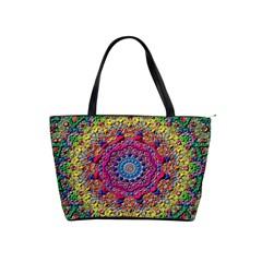 Background Fractals Surreal Design Shoulder Handbags