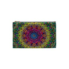 Background Fractals Surreal Design Cosmetic Bag (small)