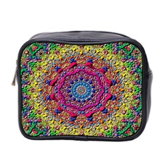 Background Fractals Surreal Design Mini Toiletries Bag 2 Side