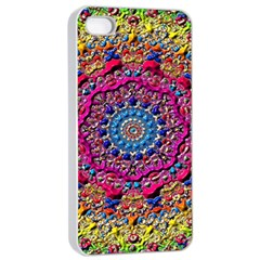 Background Fractals Surreal Design Apple Iphone 4/4s Seamless Case (white)