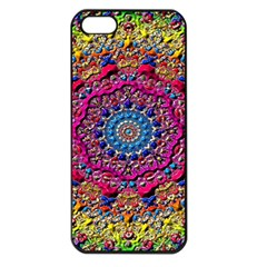 Background Fractals Surreal Design Apple Iphone 5 Seamless Case (black)
