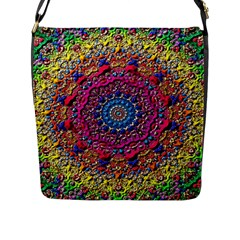 Background Fractals Surreal Design Flap Messenger Bag (l)