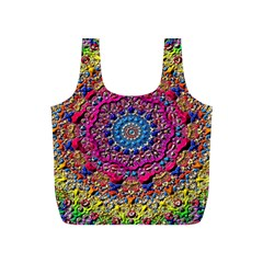 Background Fractals Surreal Design Full Print Recycle Bags (s)