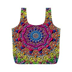 Background Fractals Surreal Design Full Print Recycle Bags (m)