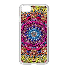 Background Fractals Surreal Design Apple Iphone 8 Seamless Case (white)