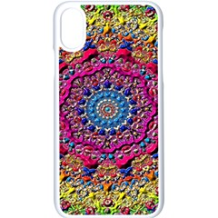 Background Fractals Surreal Design Apple Iphone X Seamless Case (white)