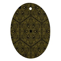 Texture Background Mandala Ornament (oval)