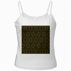 Texture Background Mandala White Spaghetti Tank
