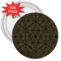 Texture Background Mandala 3  Buttons (100 Pack)