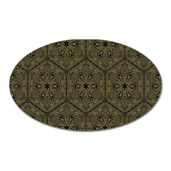 Texture Background Mandala Oval Magnet