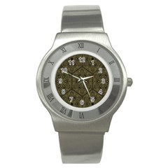 Texture Background Mandala Stainless Steel Watch