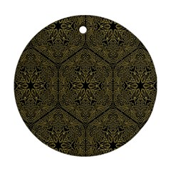 Texture Background Mandala Round Ornament (two Sides)