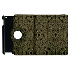 Texture Background Mandala Apple Ipad 2 Flip 360 Case